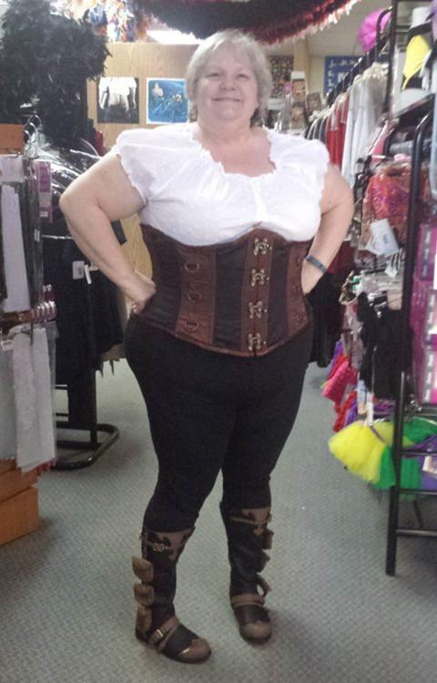 Woman in corsette